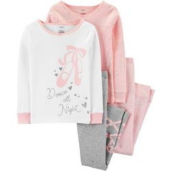 Carters Little Girls 4-pc. Dance All Night Sleepwear Set