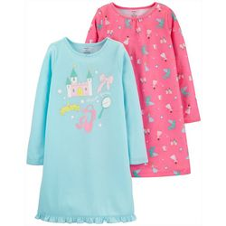 Carters Big Girls 2-pc. Fairytale Pajama Nightgown Set