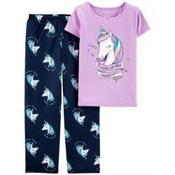 Carters Little Girls 2-pc. I Woke Up Magical Pajama Set