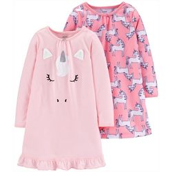 Carters Little Girls 2-pc. Unicorn Pajama Nightgown Set