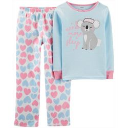 Carters Little Girls 2-pc. Need More Sleep Koala Pajama Set