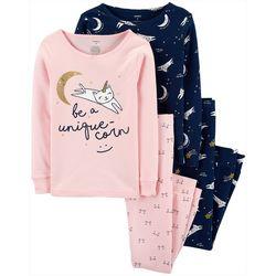 Carters Little Girls 4-pc. Unique-Corn Sleepwear Set