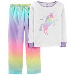 Carters Little Girls Magical Tie Dye Unicorn Pajama Set