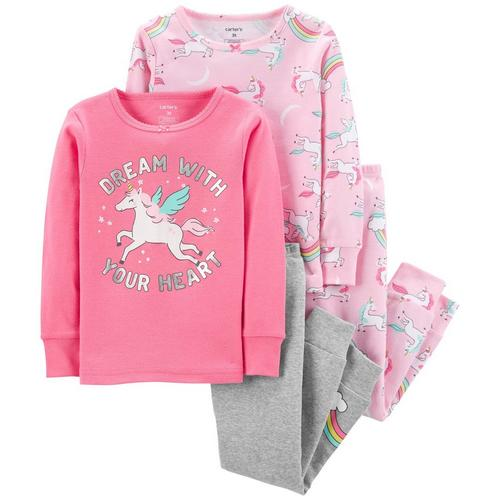 0ffccb8603b7 Carters Toddler Girls 4-pc. Dream With Your Heart Pajama Set ...