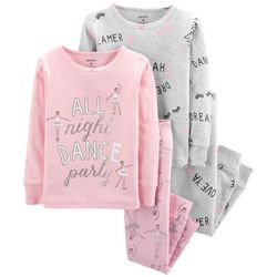 Carters Toddler Girls 4-pc. All Night Dance Party Pajama Set