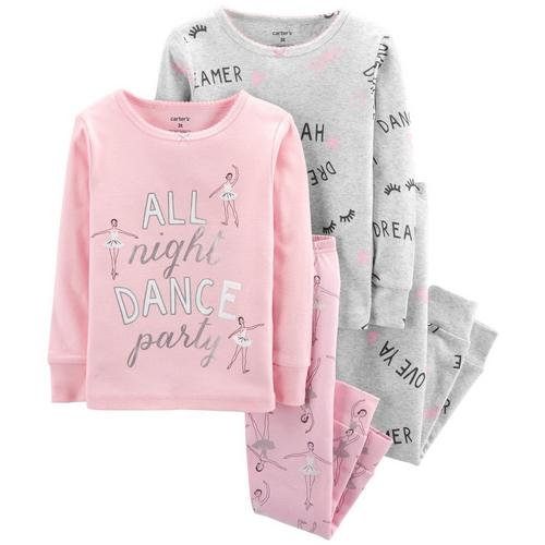 be3d880c53f4 Carters Toddler Girls 4-pc. All Night Dance Party Pajama Set ...