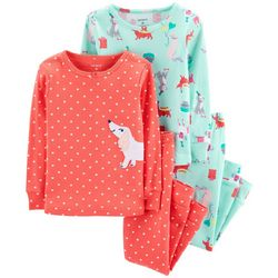 Carters Toddler Girls 4-pc. Puppy Party Pajama Set