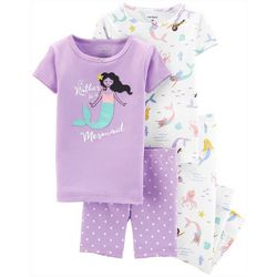 Carters Toddler Girls 4-pc. Rather Be A Mermaid Pajama Set
