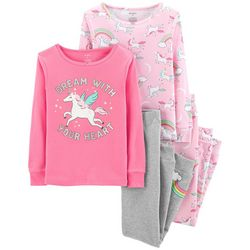 Carters Little Girls 4-pc. Dream With Your Heart Pajama Set