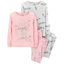 Carters Little Girls 4-pc. All Night Dance Party Pajama Set
