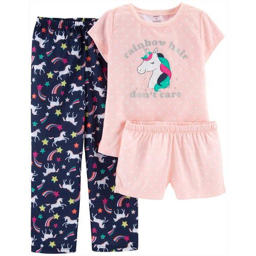0b9f75841 Carters Big Girls 3-pc. Rainbow Hair Don't Care Pajama Set | Bealls ...