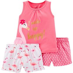 Carters Toddler Girls 3-pc. I Wake Up Happy Pajama Set