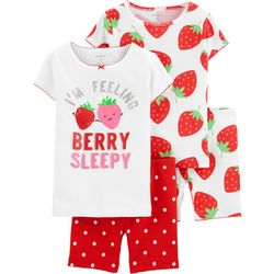 Carters Toddler Girls 4-pc. I'm Berry Sleepy Pajama Set