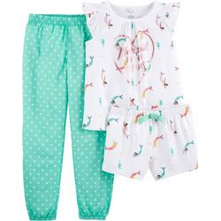 Carters Little Girls 3-pc. Mermaid In My Dreams Pajama Set