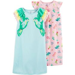 Carters Little Girls 2-pk. Tropical Nightgowns