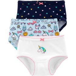 Carters Little Girls 3-pk. Unicorn Icon Brief Panties