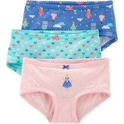 Carters Little Girls 3-pk. Princess Heart Brief Panties