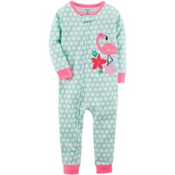 Carters Toddler Girls Dot Flamingo Jumpsuit