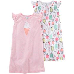 Carters Toddler Girls 2-pk. Ice Cream Nightgowns