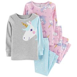 Carters Toddler Girls 4-pc. Unicorn Star Pajama Set