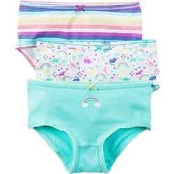 Carters Little Girls 3-pk. Rainbow & Dino Brief Panties