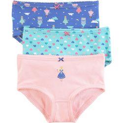 Carters Little Girls 3-pk. Princess Brief Panties