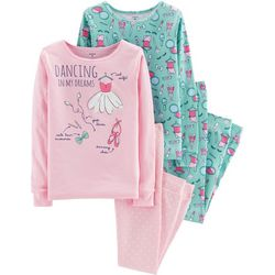 Carters Little Girls 4-pc. Dancing In My Dreams Pajama Set