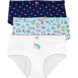 Carters Little Girls 3-pk. Unicorn Heart Brief Panties