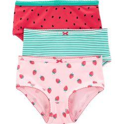 Carters Little Girls 3-pk. Stripe Fruit Brief Panties