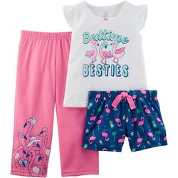 Carters Toddler Girls 3-pc. Bedtime Besties Pajama Set