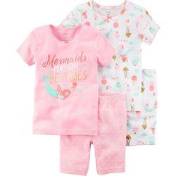 Carters Little Girls 4-pc. Mermaid Bedtime Pajama Set