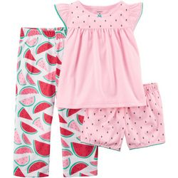 Carters Little Girls 3-pc. Watermelon Pajama Set
