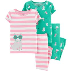 Carters Toddler Girls 4-pc. Dog Snug Fit Pajama Pants Set