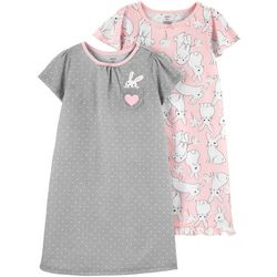 Carters Toddler Girls 2-pk. Bunny Sleeper Gowns