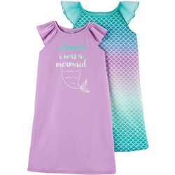 Carters Little Girls 2-pk. Mermaid Nightgowns