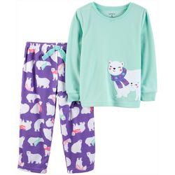 Carters Toddler Girls Polar Bear Fleece Pajama Set