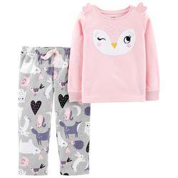 Carters Toddler Girls Owl Fleece Pajama Set