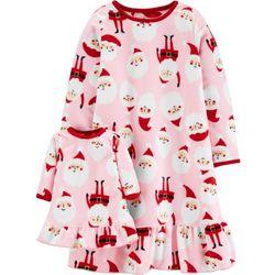Carters Toddler Girls Santa Claus Doll & Pajama Nightgown