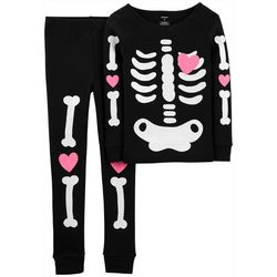 Carters Little Girls 2-pc. Glow-in-the-Dark Bones Pajamas