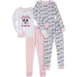 Rene Rofe Little Girls 4-pc. No Probllama Pajama Pants Set