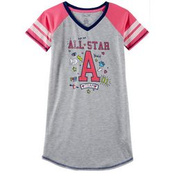 Rene Rofe Big Girls All Star Team Short Sleeve Nightgown