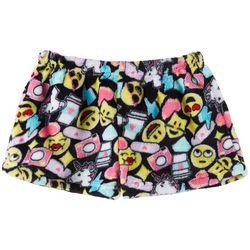 Rene Rofe Big Girls Emoji Print Pajama Shorts