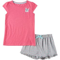 Rene Rofe Big Girls 2 -pc. Cat Pajama Shorts Set