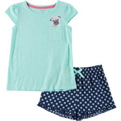Rene Rofe Big Girls 2 -pc. Pug Pajama Shorts Set