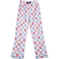 Rene Rofe Little Girls Snowflakes Print Pajama Pants