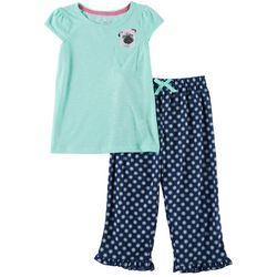 Rene Rofe Big Girls 2-pc. Pug Pajama Pants