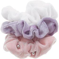 Riviera Girls 3-pk. Velvet Hair Scrunchies