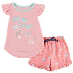 Nautica Toddler Girls Sunshine Dreams Pajama Shorts Set