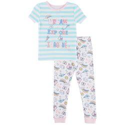 Nautica Toddler Girls Dream Explore Imagine Pajama Set