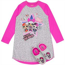 LOL Surprise Big Girls 2-pc. Nightgown & Slipper Set